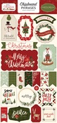 Hello Christmas 6x13 Chipboard Phrases - Carta Bella