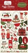 Hello Christmas Puffy Stickers - Carta Bella - PRE ORDER