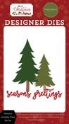 Season's Greeting Trees Die Set - Hello Christmas - Carta Bella