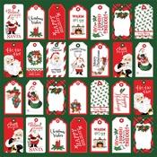 Tags Paper - Dear Santa - Carta Bella - PRE ORDER