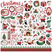 Dear Santa Element Sticker - Carta Bella - PRE ORDER