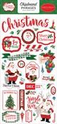 Dear Santa 6x13 Chipboard Phrases - Carta Bella - PRE ORDER