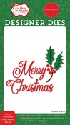 Merry Christmas Holly Branch Die Set - Dear Santa - Carta Bella - PRE ORDER