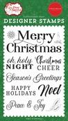 Merry Christmas Sentiment Stamp Set - Dear Santa - Carta Bella - PRE ORDER