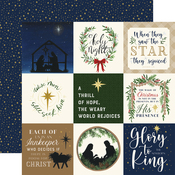 4X4 Journaling Cards Paper - Silent Night - Echo Park - PRE ORDER