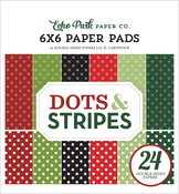 Dots & Stripes - Christmas 6X6 Paper Pad - Echo Park - PRE ORDER