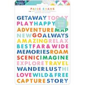 Go The Scenic Route Word Puffy Stickers - American Crafts - PRE ORDER