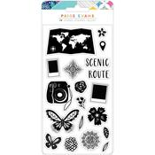 Go The Scenic Route Acrylic Stamps - American Crafts - PRE ORDER
