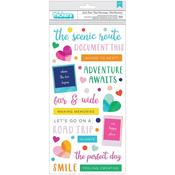Puffy Phrase Thicker Stickers - Go The Scenic Route - PRE ORDER
