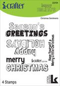 Christmas Sentiments Clear Stamps - i-Crafter