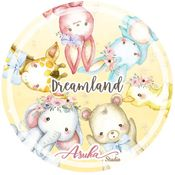 Dreamland 25 mm Washi Tape - Asuka Studio