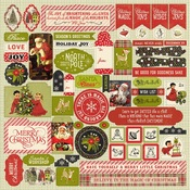 A Magical Christmas Details Sticker Sheet - Authentique