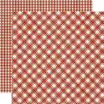 Cranberry Plaid/Gingham Paper - Jingle All The Way - Simple Stories - PRE ORDER