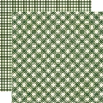 Evergreen Plaid/Gingham Paper - Jingle All The Way - Simple Stories - PRE ORDER