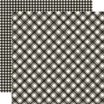 Coal Plaid/Gingham Paper - Jingle All The Way - Simple Stories - PRE ORDER