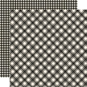 Coal Plaid/Gingham Paper - Jingle All The Way - Simple Stories