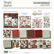 """Collector's Essential Kit 12""""X12""""- Jingle All The Way - Simple Stories"""