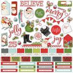 Simple Vintage North Pole Sticker Sheet - Simple Stories - PRE ORDER