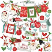 Simple Vintage North Pole Banners Sticker Sheet - Simple Stories