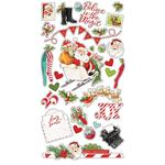 Simple Vintage North Pole Chipboard Stickers - Simple Stories - PRE ORDER
