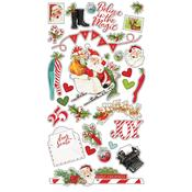 Simple Vintage North Pole Chipboard Stickers - Simple Stories