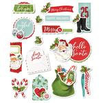 Simple Vintage North Pole Layered Stickers - Simple Stories - PRE ORDER