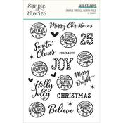 Simple Vintage North Pole Photopolymer Clear Stamps - Simple Stories