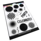 Party Fans Stamp 6x8 Set - Catherine Pooler