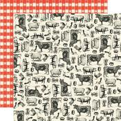Farm To Table Paper - Apron Strings - Simple Stories - PRE ORDER