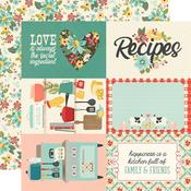 "4""X 6"" Elements Paper - Apron Strings - Simple Stories"