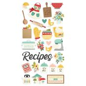 Apron Springs Chipboard Stickers - Simple Stories