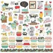Apron Strings Cardstock Stickers - Simple Stories