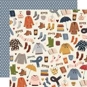 Sweaters & Boots Paper - Cozy Days - Simple Stories - PRE ORDER