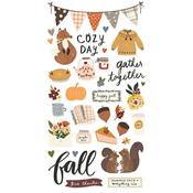Cozy Days Chipboard Stickers - Simple Stories