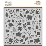 Falling Leaves Stencil - Cozy Days - Simple Stories