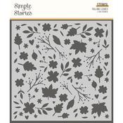 Falling Leaves Stencil - Cozy Days - Simple Stories - PRE ORDER