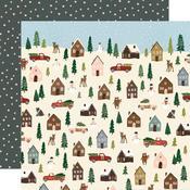 Winter Cottage Paper - Winter Wonderland - Simple Stories