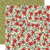 Winter Cottage Paper - Peace Love Joy - Simple Stories