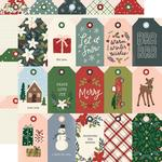 Winter Cottage Paper - Tags - Simple Stories  - PRE ORDER
