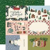 "Winter Cottage Paper - 4"" x 6"" Elements - Simple Stories  - PRE ORDER"