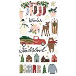 Winter Cottage Chipboard Stickers - Simple Stories  - PRE ORDER