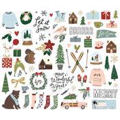 Winter Cottage Bits & Pieces Die-Cuts - Simple Stories