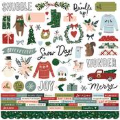 Winter Cottage Cardstock Stickers - Simple Stories