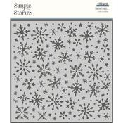 Winter Cottage Stencil - Simple Stories  - PRE ORDER
