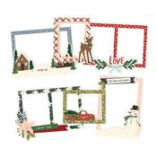 Winter Cottage Layered Chipboard Frames Die-Cuts - Simple Stories