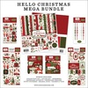 Hello Christmas Mega Bundle - Carta Bella Our BRAND NEW Mega Bundle includes one each of the Collection Kit, Solids Kit, Ephemera, Frames & Tags, Chipboard Accents, Chipboard Phrases, Puffy Stickers and Enamel Dots.