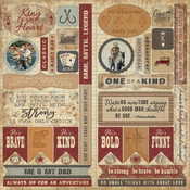 Manly Elements Die-Cut Accent Sheet - Authentique