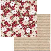 Poinsettia Paper - Joyful Christmas - Bo Bunny - PRE ORDER