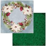 Wreath Paper - Joyful Christmas - Bo Bunny