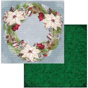 Wreath Paper - Joyful Christmas - Bo Bunny - PRE ORDER